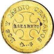 2½ centavos (monnaie de léproserie) – revers
