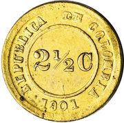 2½ centavos (monnaie de léproserie) – avers