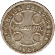 2 centavos (monnaie de léproserie) – avers