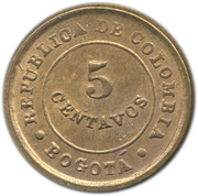5 centavos (monnaie de léproserie) – avers