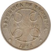 50 centavos (monnaie de léproserie) – avers