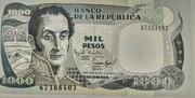 1000 pesos 1993-1996 – avers