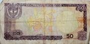 50 pesos de oro – revers