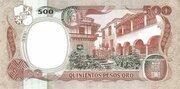 500 Pesos Oro – revers