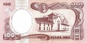100 Pesos Oro – revers