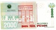 2000 Pesos – revers