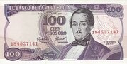 100 pesos oro – avers