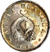 ½ real (République de Nouvelle Grenade, Piéfort ) – avers
