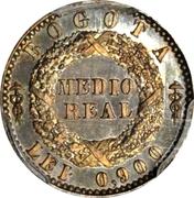 ½ real (République de Nouvelle Grenade, Piéfort ) – revers