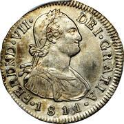 2 reales Ferdinand VII – avers