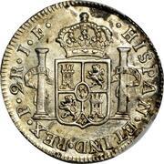 2 reales Ferdinand VII – revers