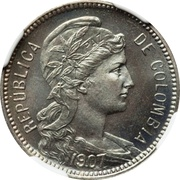 5 pesos (monnaie d'inflation) – avers