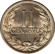 2 centavos (tête à droite) -  revers