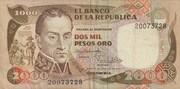 2000 Pesos Oro – avers