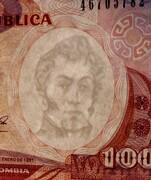 100 Pesos Oro -  avers