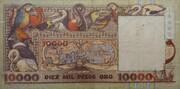 10000 Pesos Oro – revers