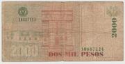 2000 Pesos  1996 - 1999 – revers