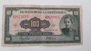 100 (cien) pesos oro - Francisco de Paula Santander – avers