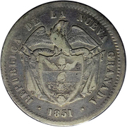 10 reales (République de Nouvelle-Grenade) – avers