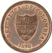 2 centavos (Antioquia, essai) – avers