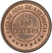2 centavos (Antioquia, essai) – revers