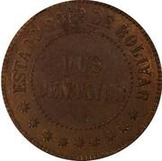 2 centavos (Bolivar, essai) – revers