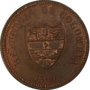 2 centavos (Cauca, essai) – avers