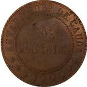 2 centavos (Cauca, essai) – revers