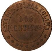2 centavos (Tolima, essai) – revers