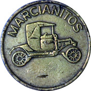 """Marcianitos"" token – avers"