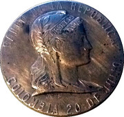 Banco De La Republica 25th Anniversary 1923-1948 – avers