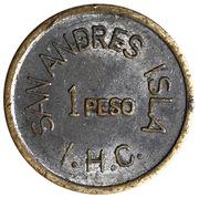 1 Peso - San Andres Isla – revers