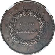 8 reales (Essai) – revers