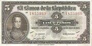 5 Pesos Oro -  avers
