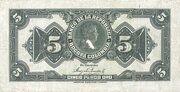 5 Pesos Oro -  revers