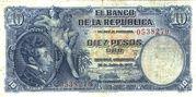 10 Pesos Oro -  avers