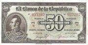 50 Pesos Oro – avers