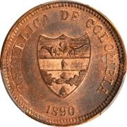 2 centavos (Cundinamca, essai) – avers