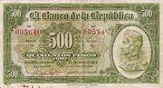 500 Pesos Oro – avers