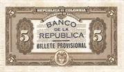 5 Pesos (Overprint) – revers