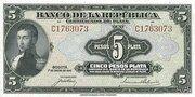 5 Pesos Plata – avers