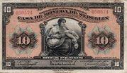 10 Pesos (Overprint) – avers