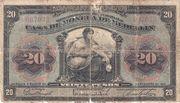 20 Pesos (Overprint) – avers