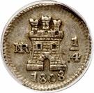 ¼ Real - Carlos IV – revers