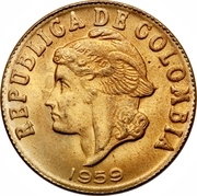 2 centavos (tête à gauche - légende continue) – avers