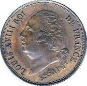 5 centimes - Louis XVIII (Essai) – avers