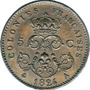5 centimes - Louis XVIII (Essai) – revers