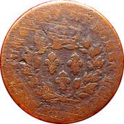 1 sol (colonies françoises) - Louis XV – revers