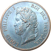 5 centimes - Louis-Philippe I – avers