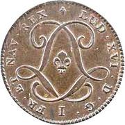 3 sols Louis XVI – avers